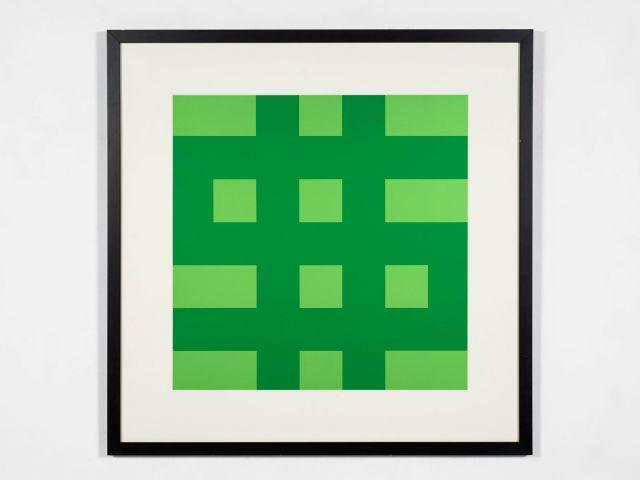 Olivier MOSSET (Né en 1944) Dollar (vert) - 1995