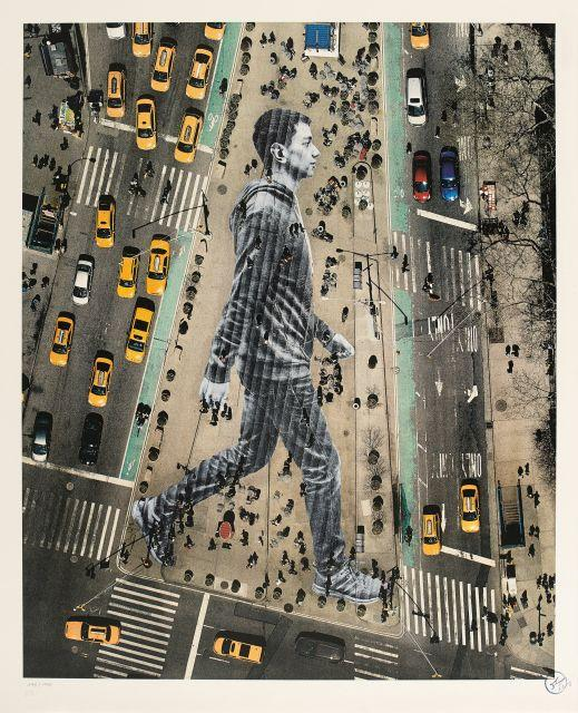 ¤ J.R. Né en 1984 Migrants, walking New York City - 2015