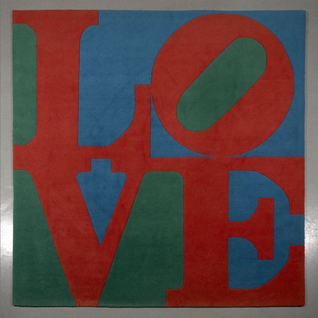 Robert INDIANA Né en 1928 Classic Love - 1995 Tapis en laine