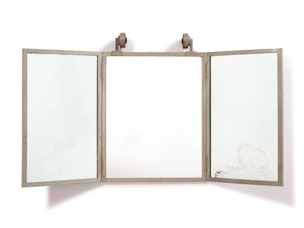 TRAVAIL FRANÇAIS 1930 - 1940 Miroir triptyque éclairant