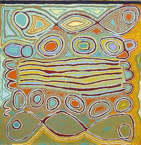 NAPANGARDI Judy WATSON (WARLPIRI (née en 1935) MINA MINA DREAMING, 2010 Acrylique sur toile (Belgian linen)