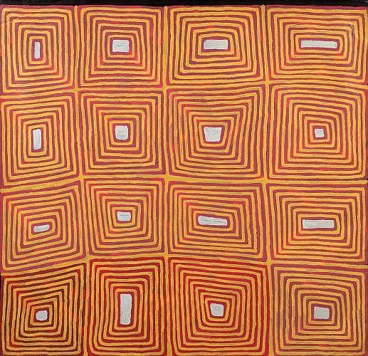 TJAMPITJINPA RONNIE (PINTUPI) (né en 1943) TINGARI DREAMING, 1996 Acrylique sur toile (Belgian linen)