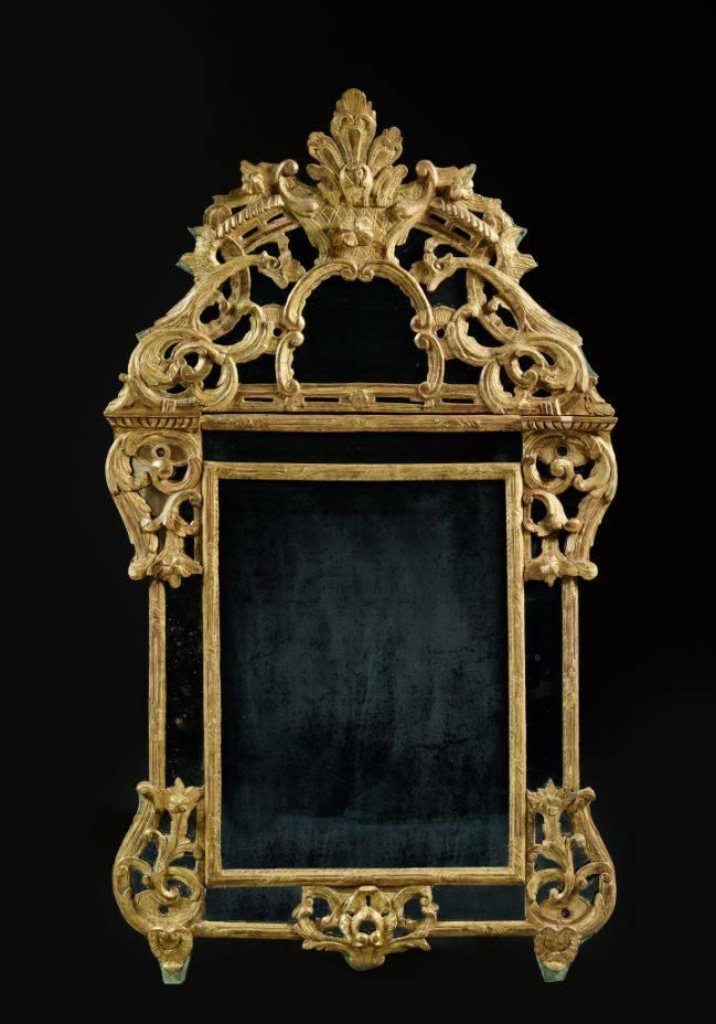 Miroir d 39 poque louis xv for Miroir louis xv