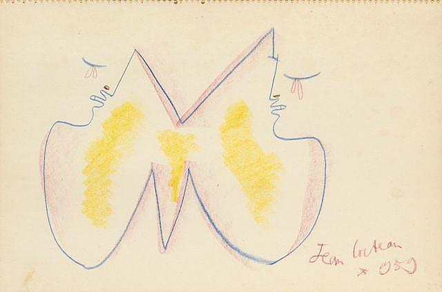 Jean COCTEAU  Profils pour la chapelle Notre-Dame-de-France, 1959