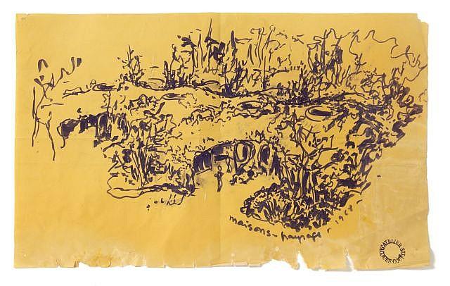 Jacques COUËLLE Maison-paysages, 1968