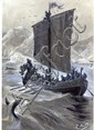 [HETZEL] Léon BENETT Les dompteurs de la mer Dessin au crayon gras rehaussé, signé. 21 x 30,7 c...