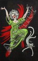[Jacques SAIGNIER] JAC Danseuse tenant un flacon et chat Projet original d'affiche, 100 x 64 cm...