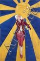 [Jacques SAIGNIER] JAC [Lustrant] Soleil et montre gousset Projet original d'affiche, 92 x 63 c...