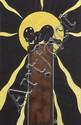 [Jacques SAIGNIER] JAC [Chocolat] Bébé noir sur tablette de chocolat Projet original d'affiche,...