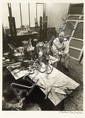 [Jean DUBUFFET] Robert DOISNEAU  Jean Dubuffet dans son atelier rue de Rennes. 1950