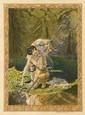 [Carlos SCHWABE] Paul-Louis COURRIER Daphnis et Chloé H. Piazza, 1926. In-4 br., étui. Illustra...