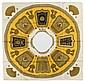 HERMES Paris made in france Poncho en soie imprimée, confectionné à partir d'un carré, titré