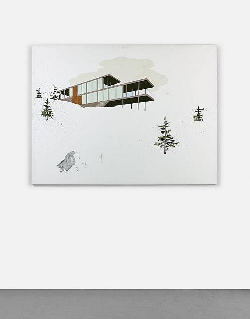 Blaise DRUMMOND (Né en 1967) TOUTE FIN EST UN RECOMMENCEMENT - 2006 Huile, encre sepia et collage sur toile