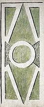 Georges BRAQUE (1882 - 1963) COMPOSITION GEOMETRIQUE - Circa 1912-1914 Fresque montée sur toile