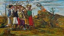 Pierre TAL-COAT (1905 - 1985) ETUDE POUR MASSACRE - Circa 1937 Huile sur toile