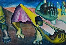 Arthur Luiz PIZA (Né en 1928) TERRA - Circa 1945 Huile sur toile
