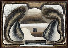 Serge CHARCHOUNE (1888 - 1975) NATURE MORTE AUX DEUX POIRES - COMPOSITION - 1926 Huile sur toile