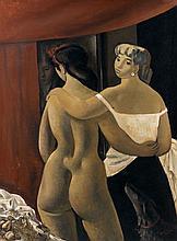 Xavier BUENO (1915 - 1979) LES DEUX AMIES - Circa 1940 Huile sur toile