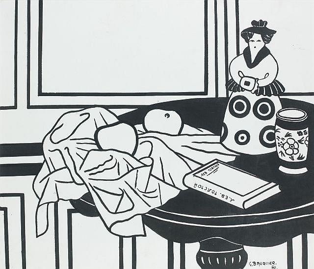 Georges BAUQUIER (1910 - 1997) POUPEE RUSSE - 1980 Encre sur papier