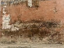 Isamu HIRAKAWA (1921 - 1989) PAN DE MUR - 1968 Huile sur toile