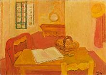 Maurice SAVIN (1894 - 1973) INTERIEUR - 1970 Huile sur toile