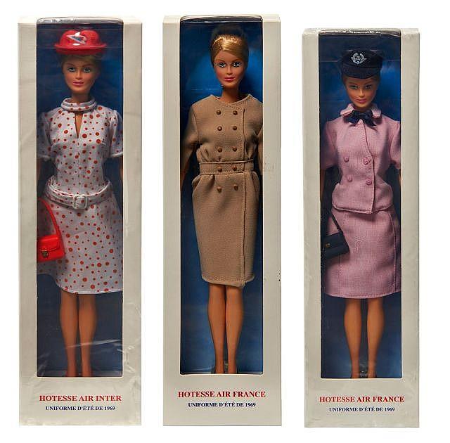 Musee Air France Trois Poupees Hotesse De L Air Edition
