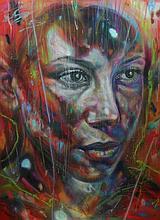 David WALKER Né en 1976 GIULIA - 2015 Peinture aérosol sur toile