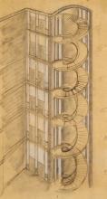 Félix AUBLET (1903-1978) Projet d'escalier pour la C.P.D.E. – 1933