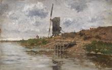 Edmond PETITJEAN (1844-1925) Le Moulin