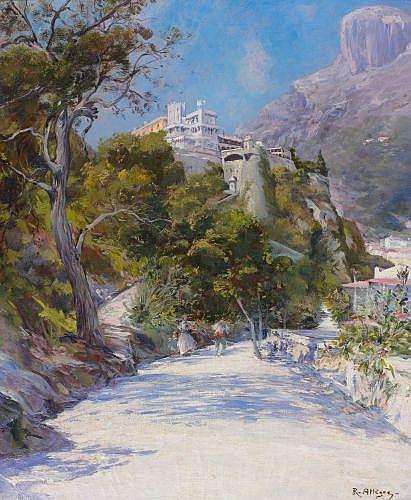 Raymond ALLEGRE (Marseille, 1857 - Marseille, 1933) LE PALAIS DE MONACO Huile sur toile