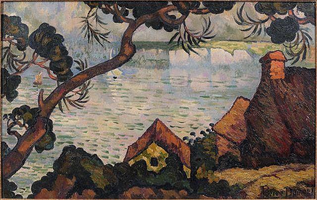 Pierre DUMONT (Paris, 1884 - Rouen, 1936) NORMANDIE, PAYSAGE DE BORDS DE MER Huile sur toile
