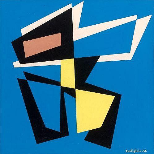 José Pedro COSTIGLIOLO (1902 - 1985) COMPOSITION, 1956 Gouache sur papier