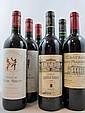 6 bouteilles  1 bt : CHÂTEAU HAUT MARBUZET 2001 CB Saint Estèphe 3 bts : CHÂTEAU CLERC MILON 2001 5è GC Pauillac 2 bts : CHATEAU...