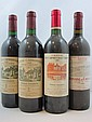 8 bouteilles 2 bts : CHÂTEAU LES CARMES HAUT BRION 1990 Pessac Léognan (étiquettes sales)