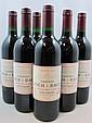 6 bouteilles 4 bts : CHÂTEAU LYNCH BAGES 1991 5è GC Pauillac (étiquettes tachées)