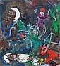 ¤ Marc CHAGALL (Vitebsk, 1887 - Saint-Paul-de-Vence, 1985) LE SONGE, circa 1965 Huile sur carton toilé