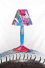 SHUCK ONE (Né en 1970) LIGHT CALL, 2014 Acrylqiue, aérosol et marqueur