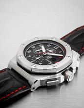 AUDEMARS PIGUET ROYAL OAK SHAQUILLE O'NEAL, LIMITED EDITION, n° 333/960, vers 2008 Rare et beau chronographe bracelet en acier....
