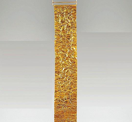 Jean NOUVEL (Né en 1945) Bracelet - 1988 Feuille d'or, écrin en plexiglas