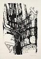 Serge REZVANI (né en 1928) COMPOSITION, 1958 Dessin à l'encre de Chine sur papier, Sserge Rezvani, Click for value