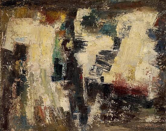 Anna STARITSKY (1911 - 1981) COMPOSITION Huile sur toile