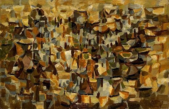 B. Jean LOUTTRE (né en 1926) COMPOSITION, 1958 Huile sur toile