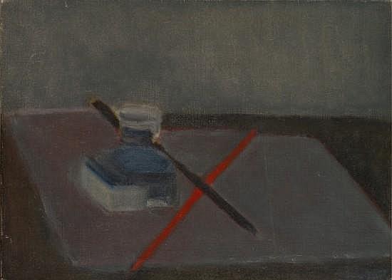 Geneviève ASSE (née en 1923) L'ENCRIER, 1951 Huile sur toile