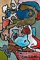 ¤ Gaston CHAISSAC (1910-1964) COMPOSITION ABSTRAITE, 1962 Huile sur papier toilé, Gaston Chaissac, Click for value