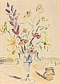 Filippo de PISIS (Ferrare, 1896 - Milan, 1956) BOUQUET DE FLEURS, 1947 Aquarelle sur papier