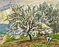 Nicolas Alexandrovitch TARKHOFF (Moscou, 1871- Orsay, 1930) ARBRE AU PRINTEMPS Huile sur toile