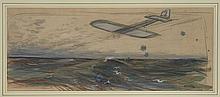 Ernest MONTAUT 1879-1909 La traversée de la Manche par Louis Blériot
