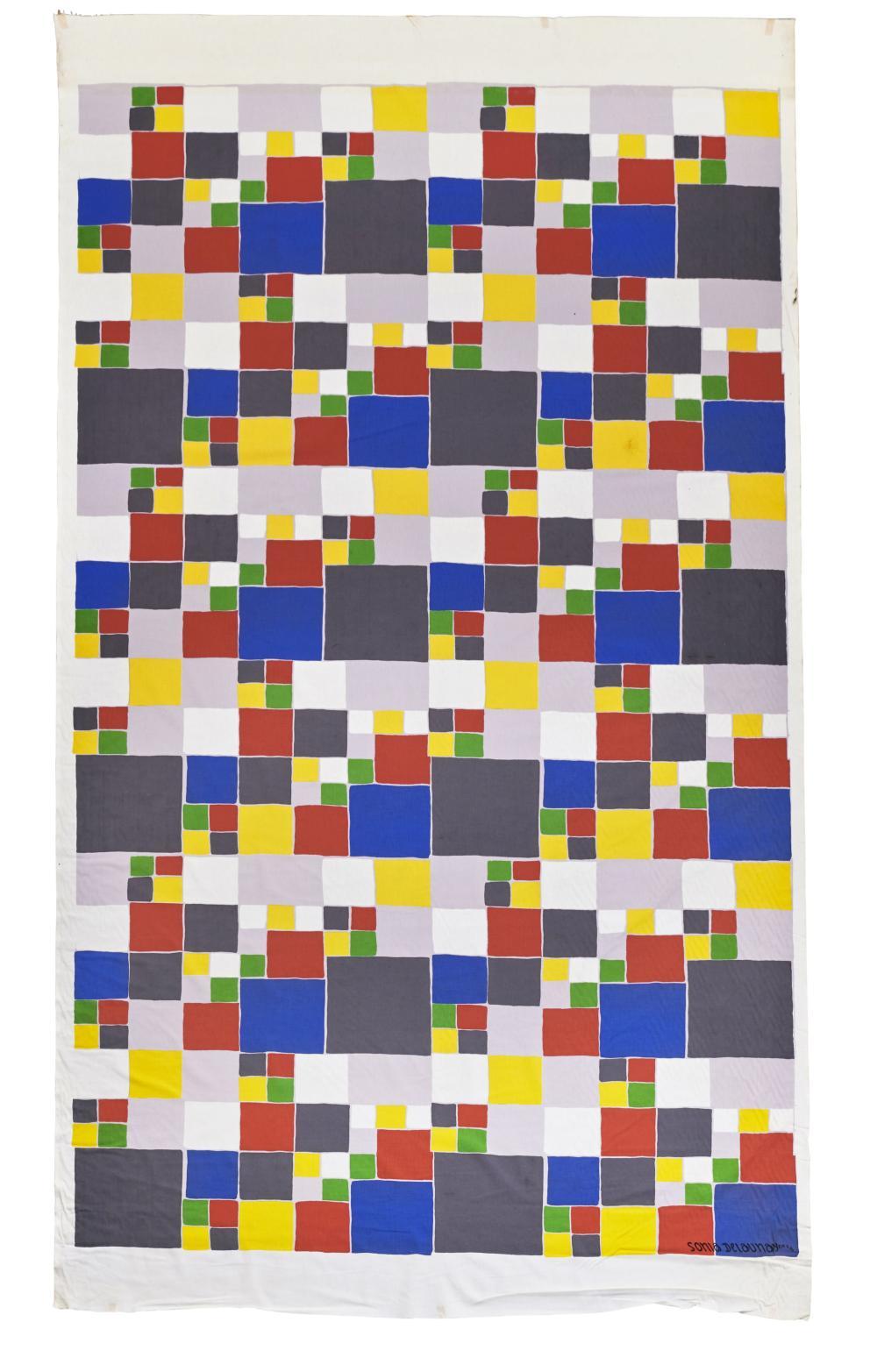 Sonia DELAUNAY (d'après) (1885-1979) Quatre lés de tissu