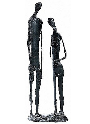 Robert COUTURIER (1905-2008) LE COUPLE Bronze à patine brune