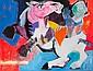 Bernard LORJOU (1908-1986) CAVALIER A CHEVAL Huile sur toile, Bernard Lorjou, Click for value